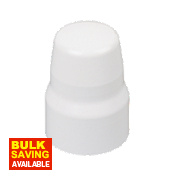 Universal Radiator Valve Cap White Finish 25mm