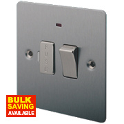 LAP 13A Switched Fused Connection Unit with Neon Brushed Stainless Steel
