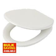 Soft-Close Toilet Seat Polypropylene White