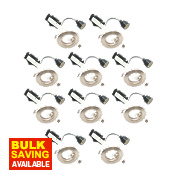 LAP Fixed Mains Voltage Downlight Contractor Pack Brushed Chrome 240V Pk10