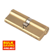 Yale 6-Pin Euro Cylinder Lock BS 40-45 (85mm) Polished Brass