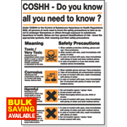 """COSHH"" Safety Poster 600 x 420mm"
