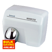 Manrose MAN/E-88A Automatic Hand Dryer White 2.4kW