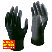 Showa B0500 PU Palm Fit Gloves Black Large