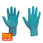 Ansell Touch N Tuff Nitrile Powder-Free Disposable Gloves Teal Large Pk100