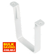 White Square Line Clips 114mm Pack of 10