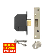 "Yale 5 Lever Mortice Deadlock Polished Brass 2½"" / 64mm"