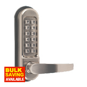 Securefast Heavy Duty Mechanical Push Button Lock with Tubular Latch