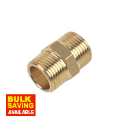 Brass Hexagon Nipple 3/8""