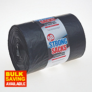 Bin Liners 70Ltr Black Pack of 50