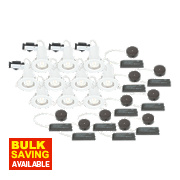 LAP Fixed Low Voltage Fire Rated Downlight Contractor Pack White 12V Pk10
