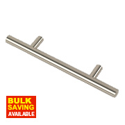 Rod Handle Brushed Nickel 96mm Pack of 10