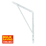 Heavy Duty Industrial Bracket White 495 x 330mm Pack of 2