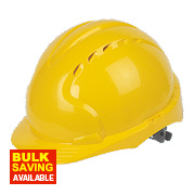 JSP EVO3 Comfort Plus Adjustable Slip Vented Safety Helmet Yellow