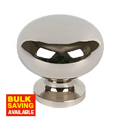 Sleek Round Knob Polished Chrome 29mm Pack of 2