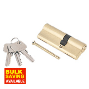 Smith & Locke 5-Pin Euro Double Cylinder Lock 35-50 (85mm) Brass