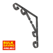Decorative Stay Brackets Black 200 x 200mm