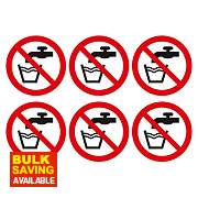 Do Not Drink Symbol Adhesive Labels 100mm 230 x 330mm Pack of 30