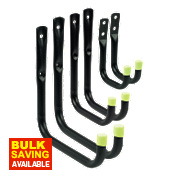Storage Hooks Black 70-170mm 6 Piece Set
