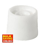 Round Door Stops White Pack of 10