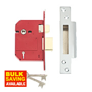 "Union BS 5-Lever Mortice Sashlock Stainless Steel 3"" / 81mm"