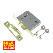 "Century 3-Lever Mortice Sashlock Brass Plated 2.5"" / 64mm"