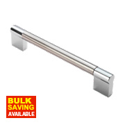 Fingertip Design Cabinet Door Handle Satin Nickel / Polished Chrome 160mm