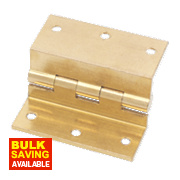 Stormproof Hinge Self-Colour Brass 55 x 63mm Pack of 2