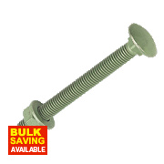 Timco In-Dex Exterior Coach Screws Organic Green M10 x 220mm Pk10
