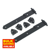 Gate Hinge Reversible Black 30 x 305 x 150mm