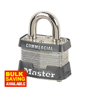 Master Lock Laminated Keyed Alike Padlock Steel 54mm