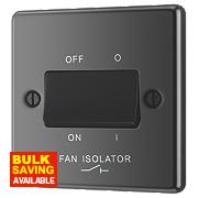 LAP 10AX 3-Pole Fan Isolator Switch Black Nickel