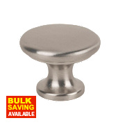 Traditional Classic Disc Knob Satin Nickel 30mm Pack of 2