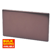 Varilight Mocha Double Blank Plate