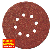Titan Sanding Disc D-Weight 150mm 8-Hole Punched Velcro 80 Grit Pack of 10