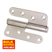 Lift-Off Hinge Satin Stainless Steel Right-Hand 102 x 89mm Pack of 2