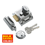 Yale 706 Traditional Night Latch Polished chrome plated 40mm Backset