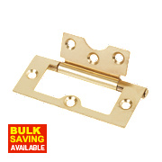 Flush Hinge Electro Brass 38 x 75mm
