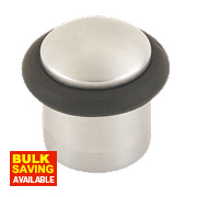 Cylinder Door Stop Satin Chrome