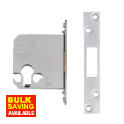 "Securefast Euro Cylinder Deadlock Satin Chrome Plated 3"" (76mm) Backset"