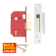 "Union BS 5-Lever Mortice Sashlock Stainless Steel 2½"" / 64mm"