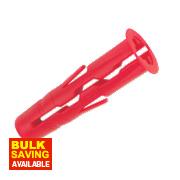 Rawlplug Uno Wall Plug Red 3.5-5mm Pack of 300