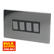 LAP 4-Gang 2-Way 10AX Light Switch Black Nickel