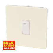 Varilight 1-Gang White Choc Double Pole 20A Switch + Neon