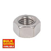 Hex Nuts A2 Stainless Steel M16 Pack of 50