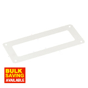 Manrose Rectangular Wall Plate White 120mm