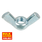 Wing Nuts BZP Steel M5 Pack of 10