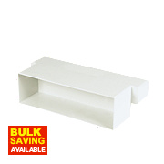 Manrose Flat Channel Airbrick Adaptor White 225mm