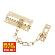 Door Chain Polished Brass Effect
