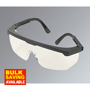 Wraparound Clear Lens Safety Specs